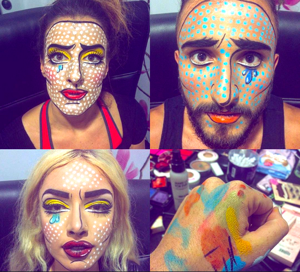 make up pop art
