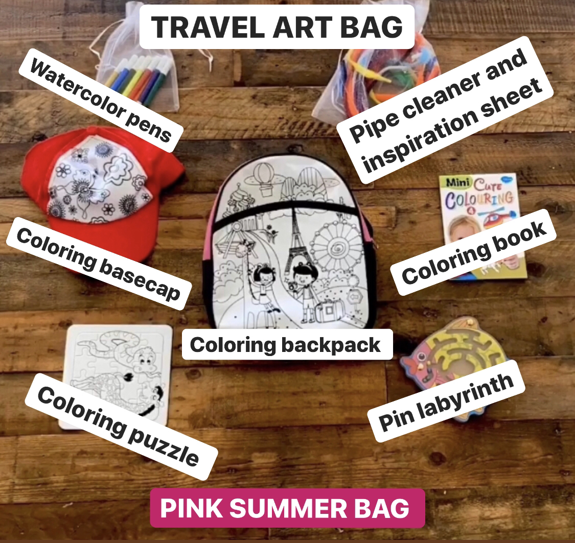 Travel Art Bag Pink Summer